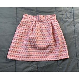 NWT Francesca's Blue Rain Pink Printed Mini Skirt